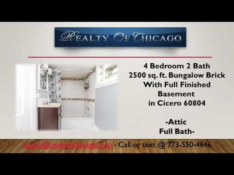 4 Br home for sale in Daniel Burnham Elementary School 1803 59th Cicero Il 60804
