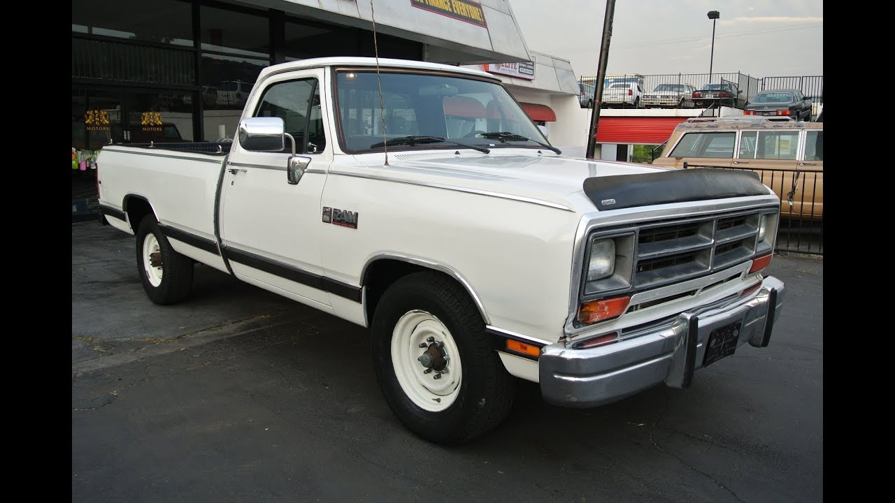1989 Dodge Ram 250 LE Cummins i6 Turbo Diesel {+} 1 Owner 99k Miles 3/4 ton 2500 - YouTube