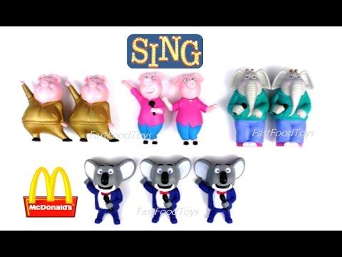 SING MOVIE EUROPE McDonald/'s Happy Meal Toys 2016 MEENA