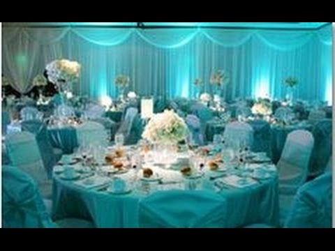 ed03444b13d Aqua Wedding Decoration Ideas - YouTube