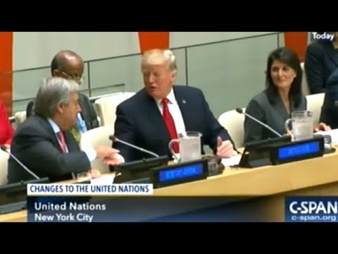 "President Trump ""We Encourage All Member States To Take Bold Stands At The United nations!"""