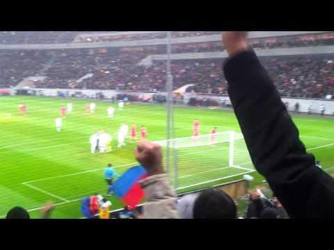 Steaua - AEK Larnaca 3-1. Gol Rusescu filmat din peluza