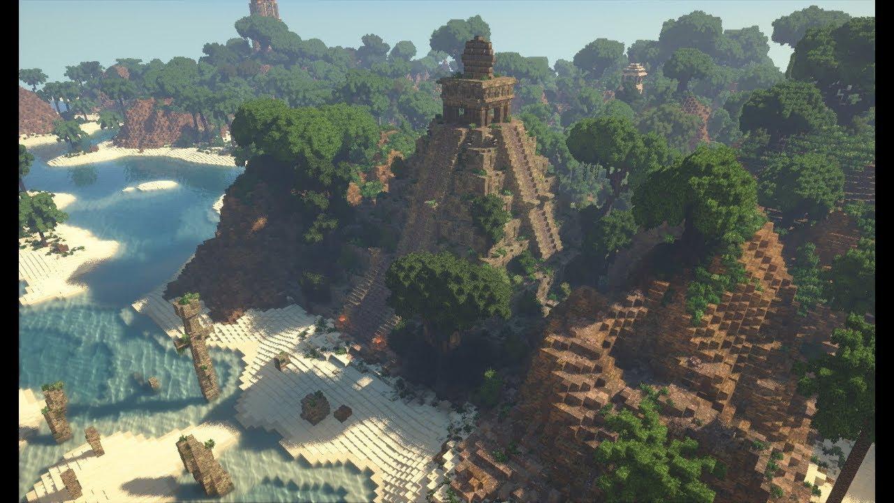 Minecraft Tropical Island: Tropical Island W/ Ruins, Pirates & More!