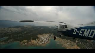 Landing in Rijeka LDRI  with a Cessna P210 Silver Eagle on a rainy day