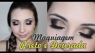Maquiagem Preto com Dourada - Formatura