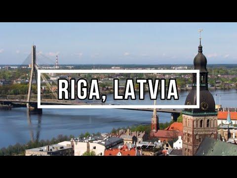 Riga, Latvia | Aerial Drone Tour 4K (Capital of Latvia)