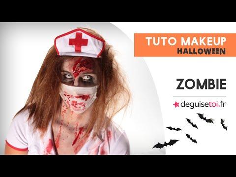 tuto make up halloween zombie femme youtube. Black Bedroom Furniture Sets. Home Design Ideas