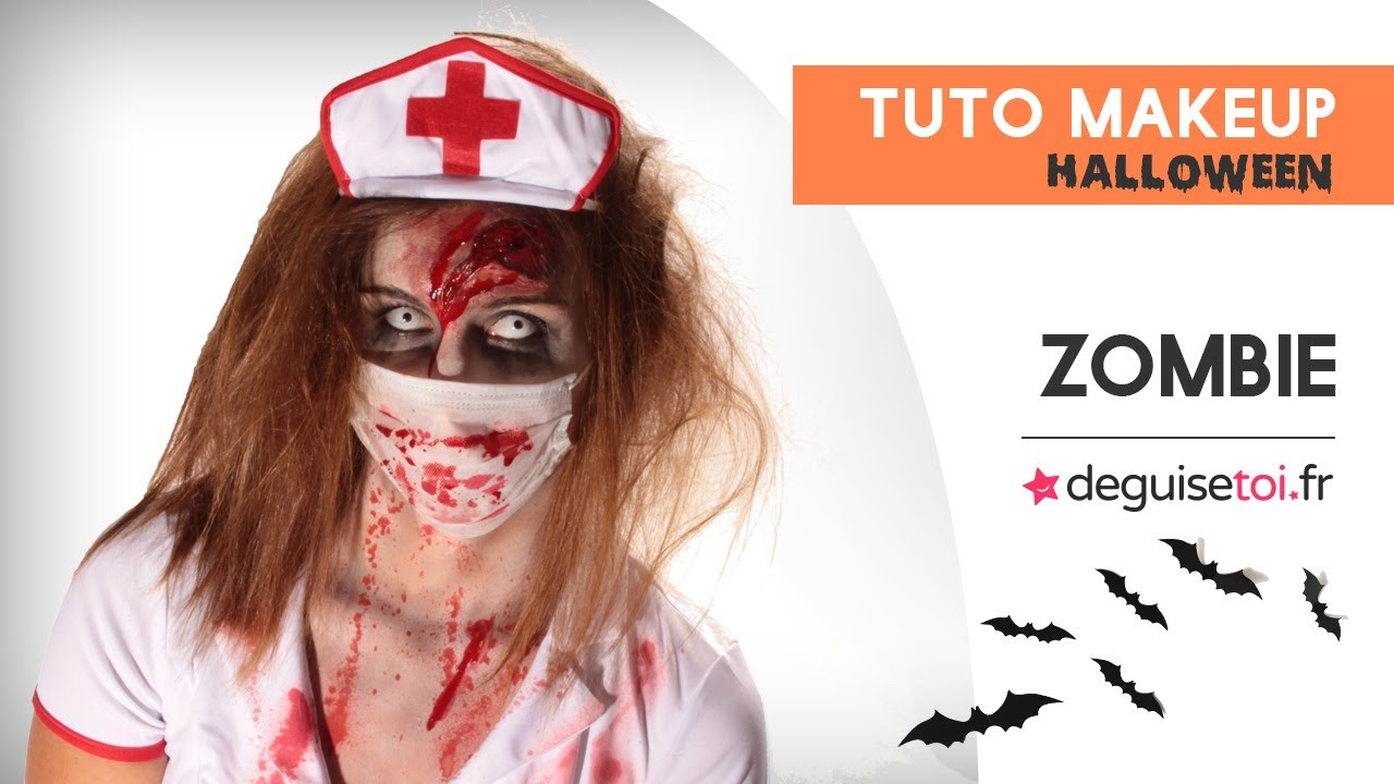 tuto maquillage halloween zombie femme deguisetoi youtube. Black Bedroom Furniture Sets. Home Design Ideas
