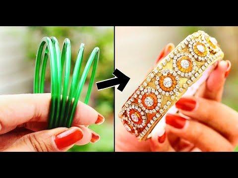 DIY | Turn Old Bangles into New Trendy Bangle | Durga puja | Diwali | karwa chauth Special