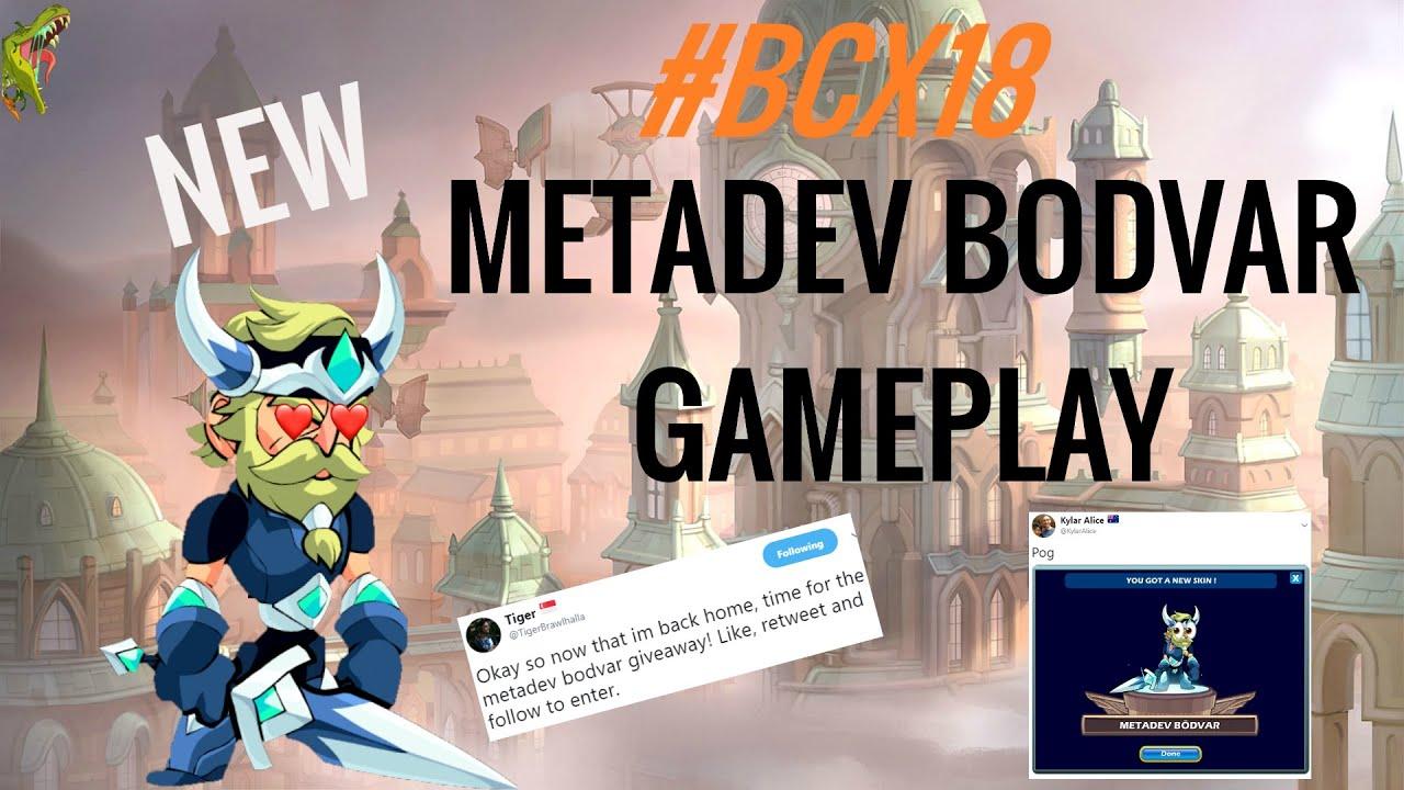 NEW Brawlhalla Metadev Bodvar Skin Gameplay