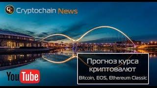 Прогноз курса криптовалют Bitcoin, EOS, Ethereum Classic. Коррекция или крах криптоиндустрии