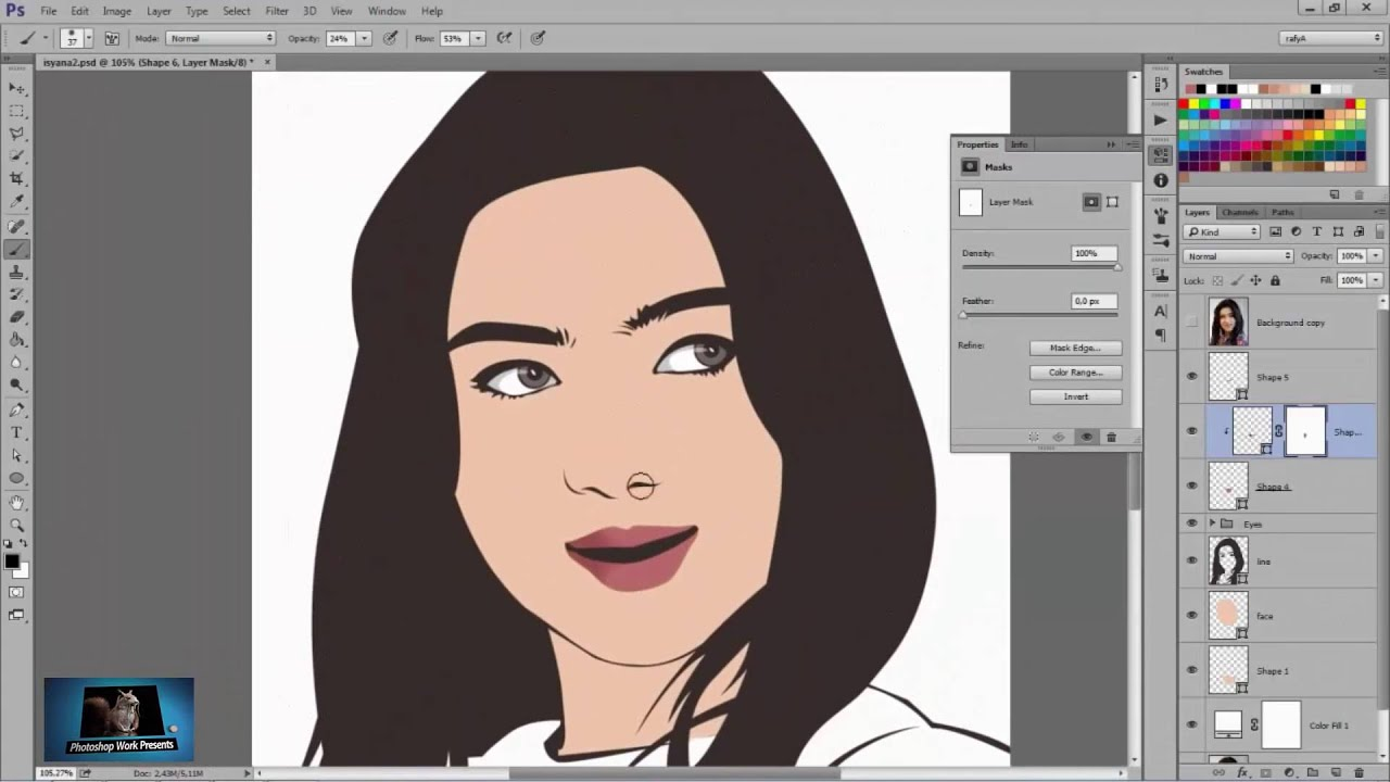 Photoshop cs2 tutorials vector vexel photoshop tutorial face youtube baditri Gallery