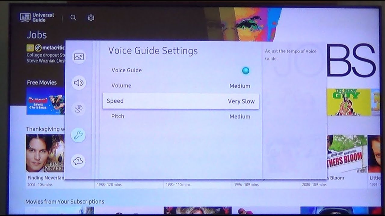 how to turn off voiceover on sony tv