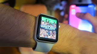 THIS IS MINECRAFT ON APPLE WATCH! He came out!