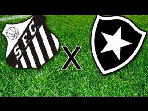 SANTOS 3X0 BOTAFOGO TODOS OS GOLS - Campeonato Brasileiro 05/06/2016