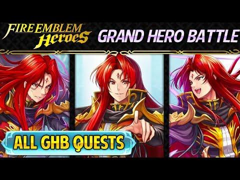 Fire Emblem Heroes - Grand Hero Battle: Julius ALL QUESTS F2P No SI Guide