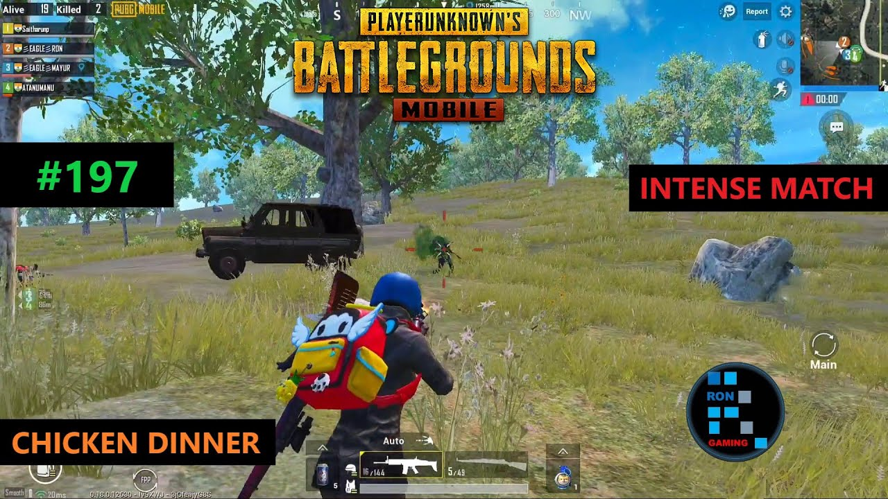 PUBG MOBILE | FUN GAMEPLAY WITH INTENCE MATCH CHICKEN DINNER