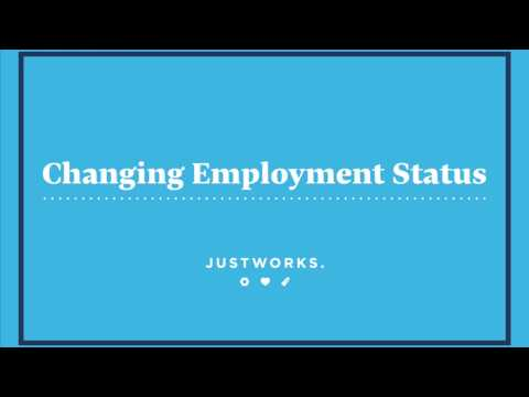 How To: Change an Employment Status