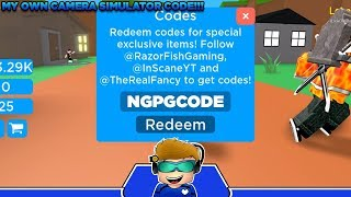 UPDATE 2 CODES FOR ROBLOX CAMERA SIMULATOR! *MY OWN CODE*