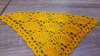 ถักผ้าคลุมไหล่ ลายกล้วย | Banana croche shawl