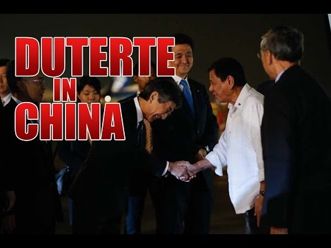President Duterte arrives at the Beijing Capital International Airport, People's Republic of China