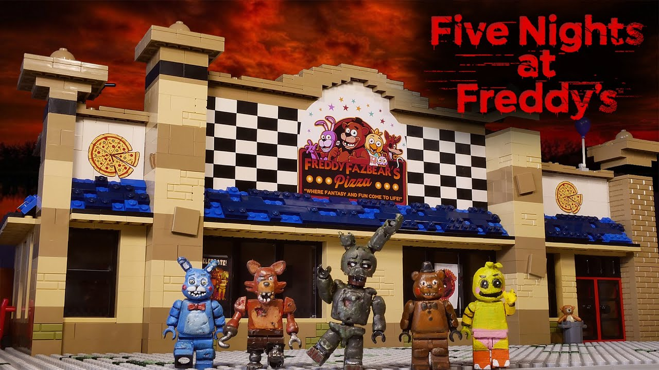 LEGO Самоделка - Пиццерия Фредди / Horror Game Five Nights at Freddy's / LEGO MOC FNaF