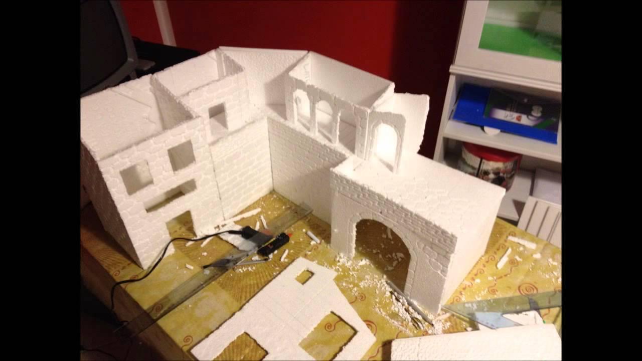 Presepe realizzato con polistirolo e gesso 2014 2015 youtube for Modelli di case da costruire