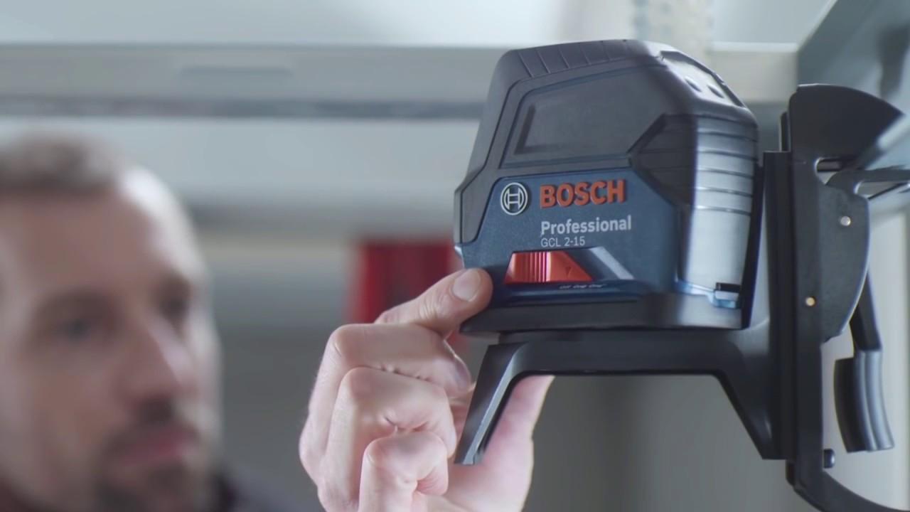 Nivel l ser combinado gcl 2 15 bosch youtube for Comment utiliser un laser