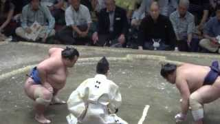 20140524 栃煌山vs琴将菊 大関冴えないね 大相撲夏場所14日目.