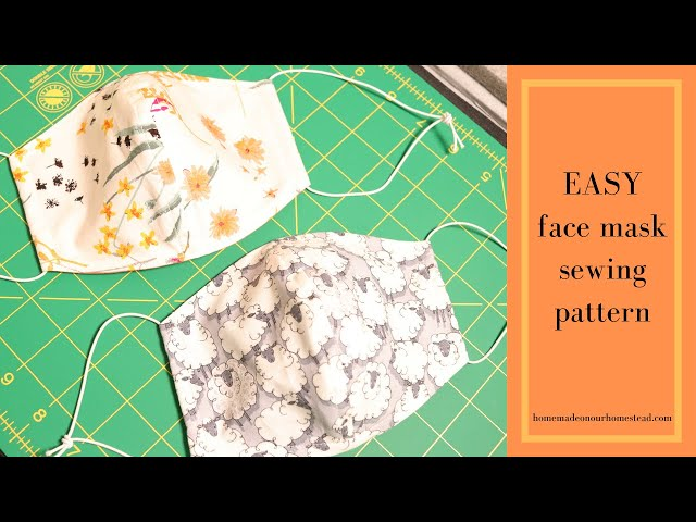 How to SEW a FACE MASK | How to sew MEDICAL FACE MASK |  TUTORIAL | DIY face mask