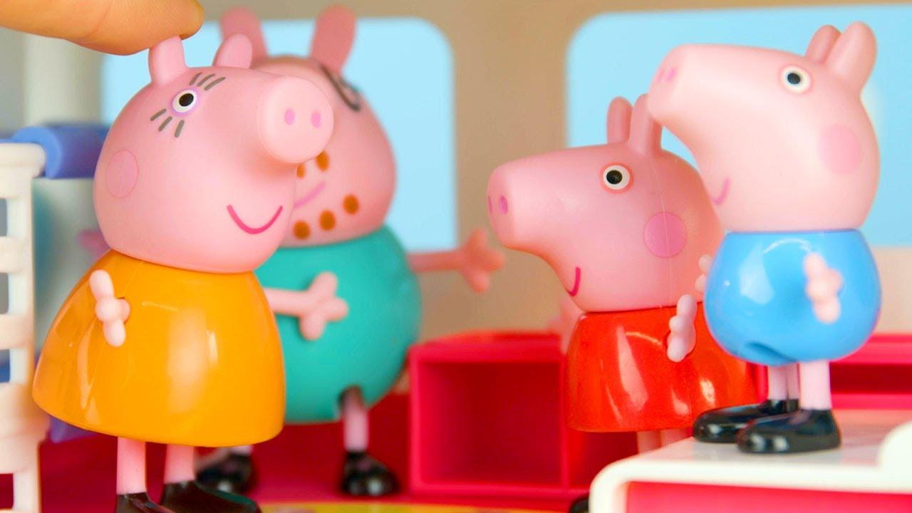Peppa Pig Motorhome Camping | Peppa Pig Stop Motion | Peppa Pig Toy Play