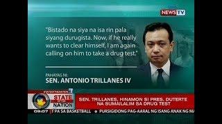 SONA: Sen. Trillanes, hinamon si Pres. Duterte na sumailalim sa drug test