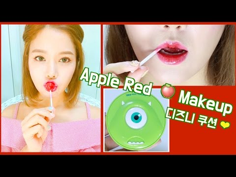 맑은 레드! 🍎 사과같은 내 얼굴 메이크업 Red candy Apple makeup! 🍎