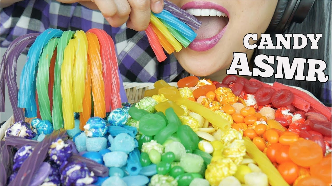ASMR RAINBOW CHEWY CANDY *HAPPY PRIDE MONTH (EATING SOUNDS) | SAS-ASMR