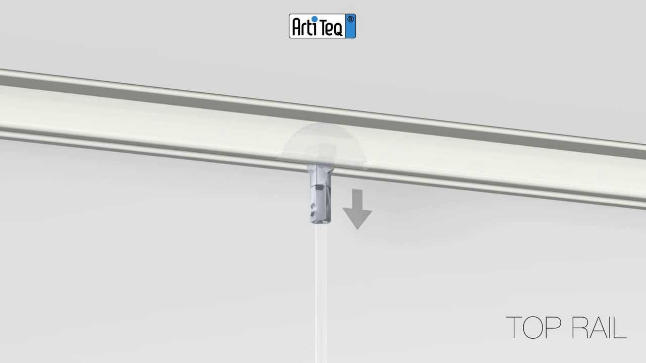 Installazione binari da soffitto - YouTube