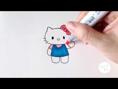วาดคิตตี้กันจ้าาา ♪ How to draw Hello Kitty ♪