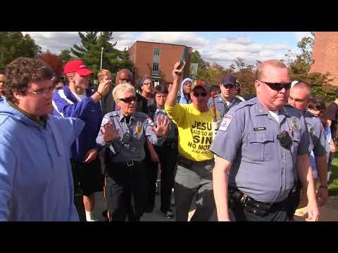 Demonstrator walked off campus