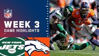 Jets vs. Broncos Week 3 Highlights | NFL 2021