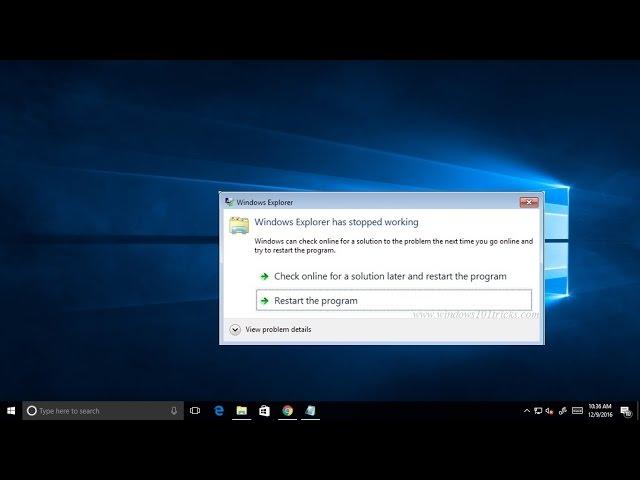 windows 10 explorer exe restart loop