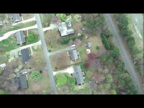 Airborne Video Gibsonville Elementary School Gibsonville NC #2
