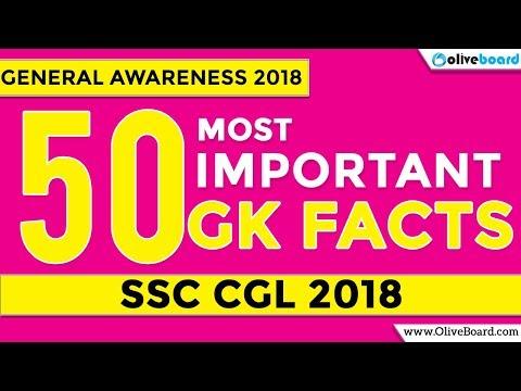 SSC CGL 2018 Preparation   50 General Studies Facts   Important Topics 2018