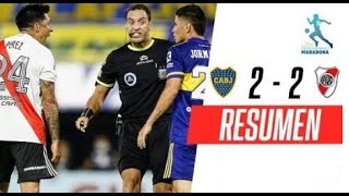 Boca - River [2-2] | GOLES | Fase 2 - Grupo A (Fecha 4) | Copa Diego Maradona | FOX