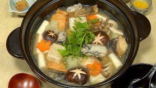 Mizore Nabe (Hot Pot with Grated Daikon Radish Recipe) みぞれ鍋 作り方 レシピ