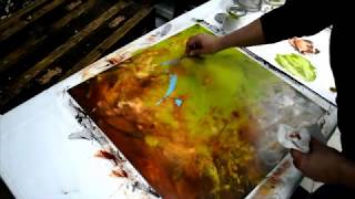 Oil Paint and Cold Wax Painting Demonstration by Kim Sobat