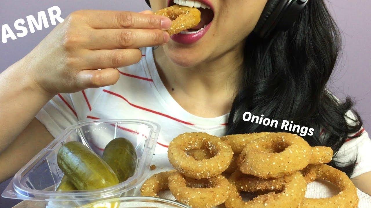 Asmr Fried Onion Rings Cooking Eating Sounds Sas Asmr