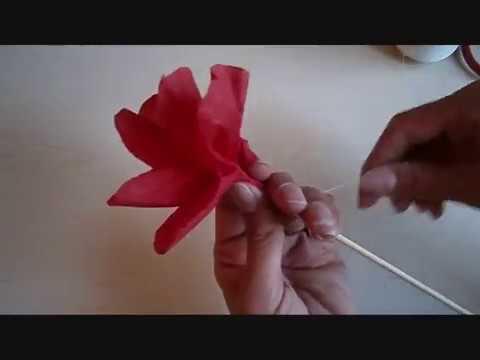 פרח יפה מנייר קרפ