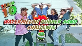 WATERMELON RUBBER BAND CHALLENGE (FAIL) w/ Martinez Twins, Jake Paul, & Tessa Brooks