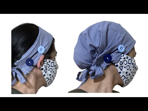 Sew a Headband that Converts to a Full Coverage Scrub Cap sewing tutorial
