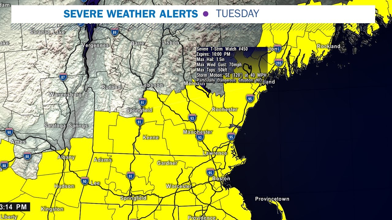 Severe thunderstorm Watch in effect overnight for southern ...
