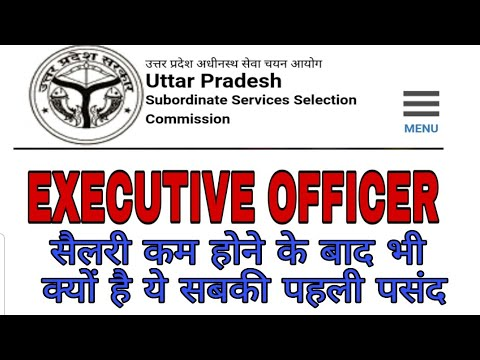 UPSSSC EXECUTIVE OFFICER JOB PROFILE
